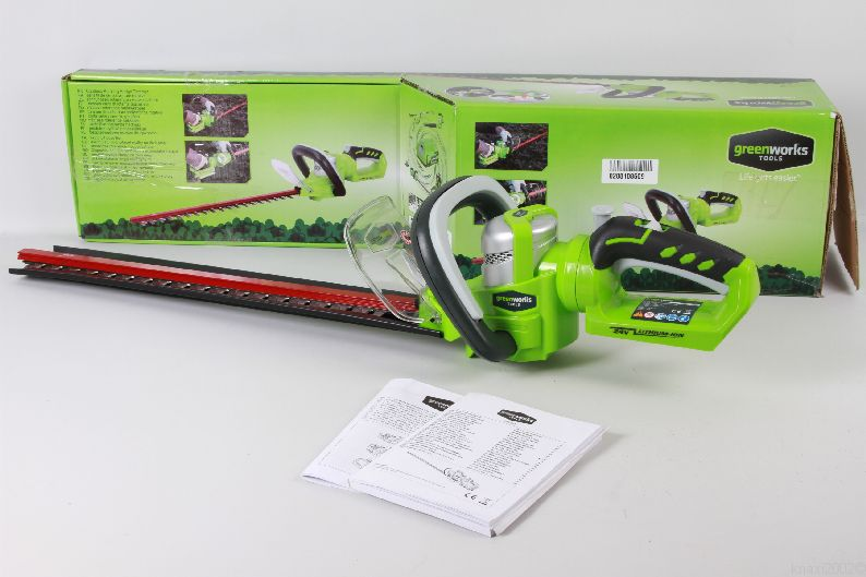 greenworks tools 24v li ion heckenschere 57cm doppelmesser 17mm breite. Black Bedroom Furniture Sets. Home Design Ideas