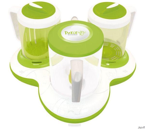 Petit-Terraillon-Gourmet-Baby-Dampfgarer-Mixer-Flaschenwaermer-Kuechenmaschine-NEU
