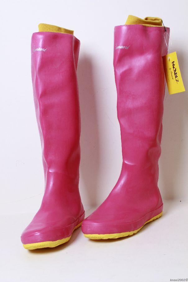 amaort pacablz gummistiefel gr ss 35 36 plum pink stiefel damen neu ebay. Black Bedroom Furniture Sets. Home Design Ideas