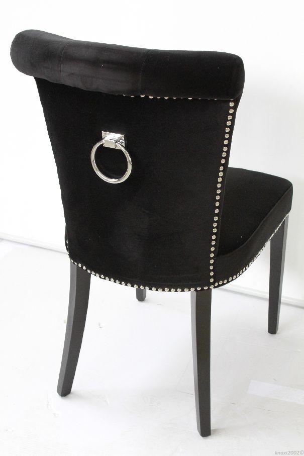 ... Esszimmerstuhl schwarz Samt Stuhl GOTHIC CHAIR black NL6487 eBay