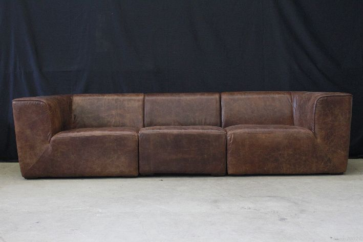 xxl braunes ledersofa 285cm leder sofa vintage used look. Black Bedroom Furniture Sets. Home Design Ideas