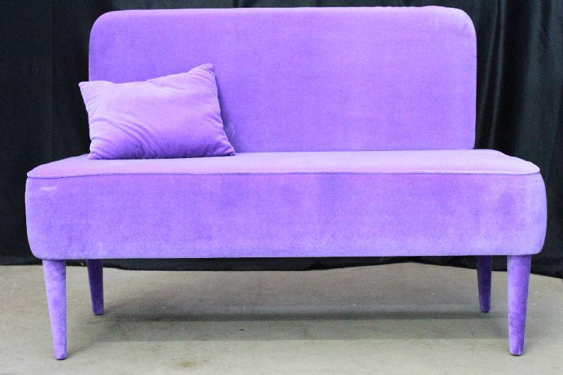 Sofabank pastel happy barok violett sofa couch kindersofa for Ohrensessel violett